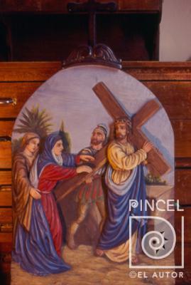 Vía Crucis cuarta estación. Jesús se encuentra con su madre | Pincel