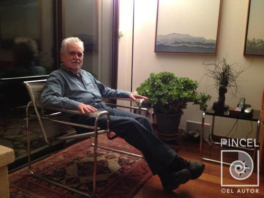 Carlos Poveda en su casa de Villiers sur Marne | Pincel