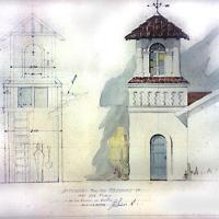 "Proyecto ""A tower for the residence of Mrs. Eva Purdy in San Rafael de Escasú (sic)"" por Quirós, Teodorico"